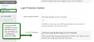 GASP Login Protection Configuration Options