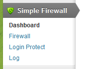 WordPress Simple Firewall Menu