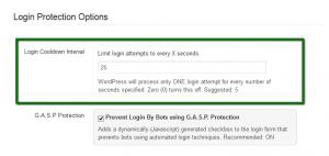 WordPress Login Cool Down Feature