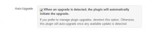 Shield Security Auto Upgrade Option