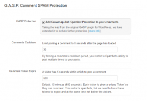 GASP WordPress Comments Filter