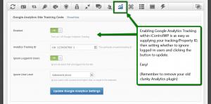 iControlWP: Enable Google Analytics Tracking