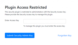 WordPress Shield Security Admin Access Authentication Form