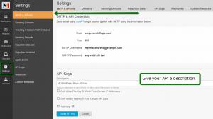 MandrillApp Settings: API Keys