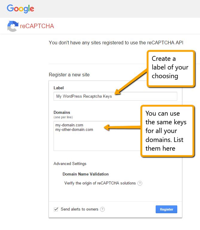 Google ReCaptcha For Securing WordPress Logins