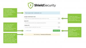 Screenshot: Shield Login Authentication Portal